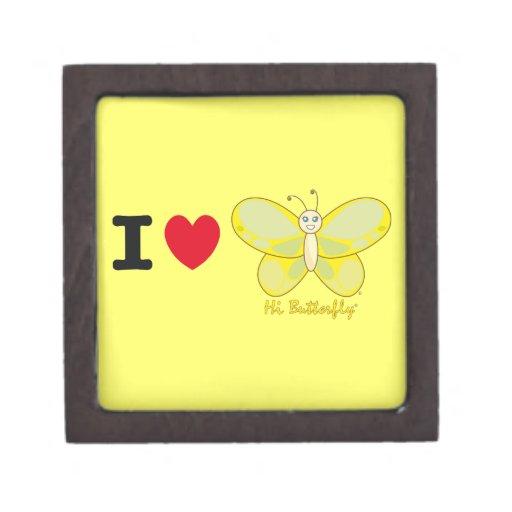 Den höga Butterfly® högvärdiga gåvan boxas Premie Minnesaskar