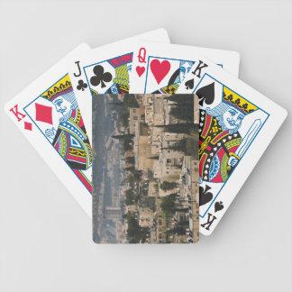 Den högstämda staden beskådar från det Jerusalem Y Spelkort