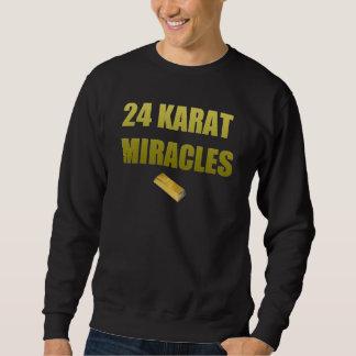 """Den högvärdiga """"24 karaten"""" Crewneck Lång Ärmad Tröja"""