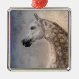 Den högvärdiga arabiska hästen kvadrerar prydnadar julgransprydnad metall