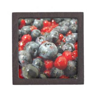 den högvärdiga gåvan boxas, blåbäret premie minnesask