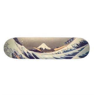 Den Hokusai skridskon stiger ombord Mini Skateboard Bräda 18,5 Cm