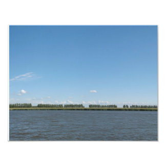 Den holländska polderen landskap panoramafotoet 10,8 x 14 cm inbjudningskort