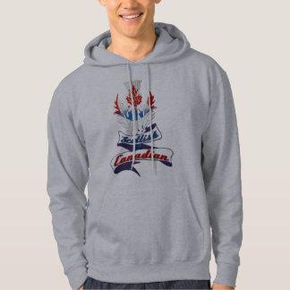 Den Hooded skotska kanadensiska thistlen Sweatshirt Med Luva