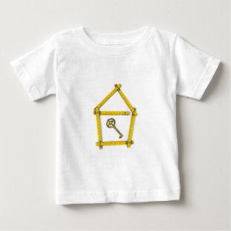 den hopfällbara linjalen, hus formar och stämm t-shirts