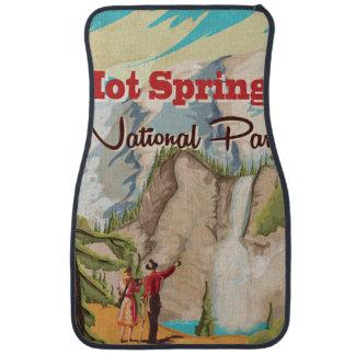 Den Hot Springs nationalparken reser affischen Bilmatta