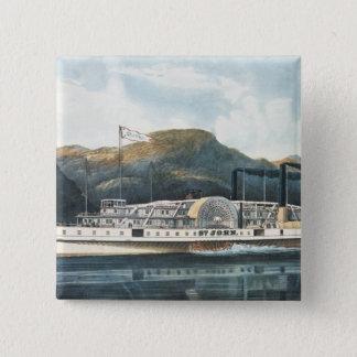 Den Hudson River Steamboat`en St. John Standard Kanpp Fyrkantig 5.1 Cm