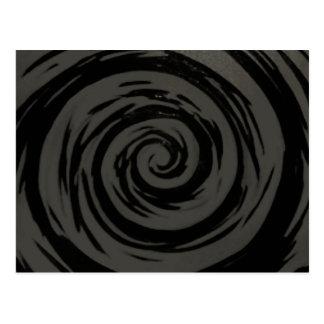 Den hypnotiska grå färg & svarten virvlar runt vykort