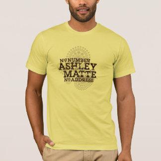 """Den ingen Ashley matten """"T-tröja numrerar för Tröja"""