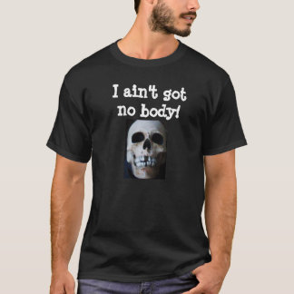 Den INGEN HALLOWEEN SKELETTHAR FÖRKROPPSLIGAR T-shirts