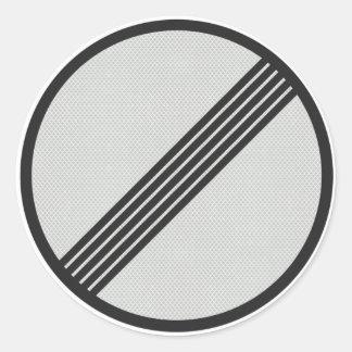"""Den ingen tyska autobahnen """"rusar den runt klistermärke"""