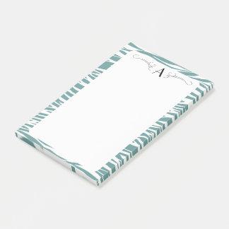 Den initiala zebra tryck postar det vadderar post-it note