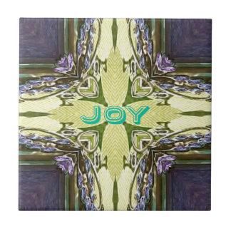 """Den inspirera abstraktkor centrerar """"glädje"""" Shape Kakelplatta"""