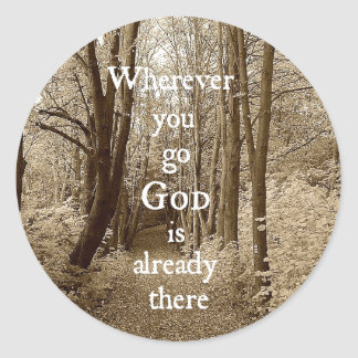 Den inspirera guden är redan där det kristna runt klistermärke