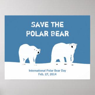 Den internationella polara björndagen - spara den  poster