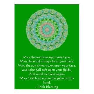 Den irländska välsignelsen kan vägen vykort