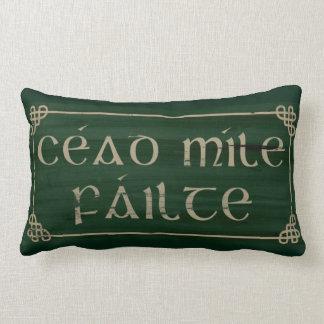 Den irländska välsignelsen kudder den Cead milen Lumbarkudde