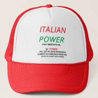 Den italienska Gumba italienare driver hatten Keps