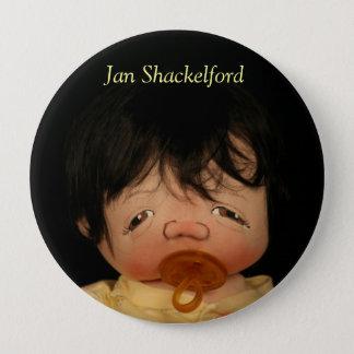 Den Jan Shackelford babyen knäppas Yoshi Kim Stor Knapp Rund 10.2 Cm