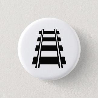 Den järnväg pictogramen knäppas mini knapp rund 3.2 cm