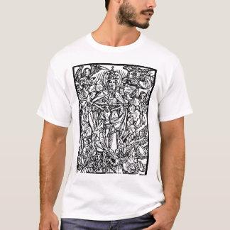 Den Jesus änglarsvarten skisserar Tee Shirts
