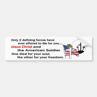 Den Jesus Kristus och amerikanen tjäna som soldat Bildekal