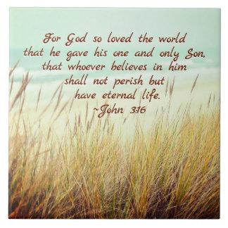 Den John 3:16 för gud älskade så världen, Kakelplatta