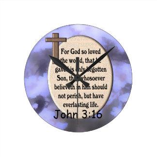 Den John 3:16 tar tid på Rund Klocka