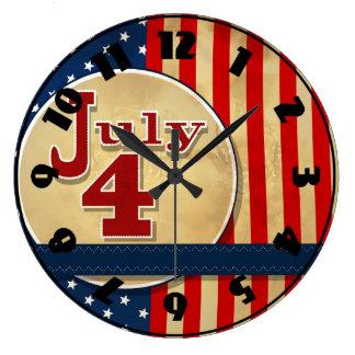 Den Juli 4th amerikanska flaggan tar tid på Stor Klocka