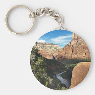 Den jungfruliga floden i den Zion kanjonen Nyckelring