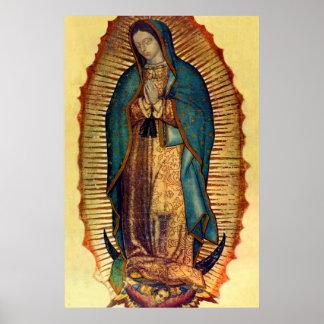 Den jungfruliga Mary Guadalupe Tilma fullt Poster
