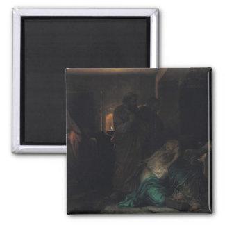 Den jungfruliga svimningen, 1856 magnet