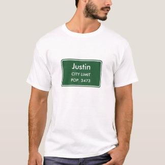 Den Justin Texas staden begränsar undertecknar T Shirts