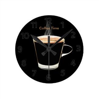 Den kaffeTime väggen tar tid på Rund Klocka