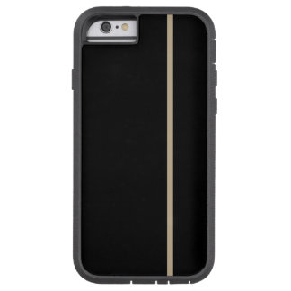 Den kaki- tunna lodrät fodrar på svart tough xtreme iPhone 6 case