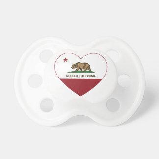 den Kalifornien flagga merced hjärta Napp