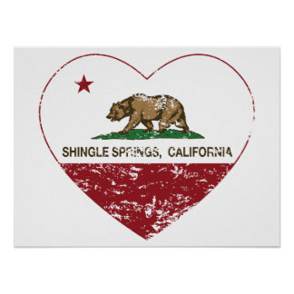 den Kalifornien flaggasingeln fjädrar bedrövad hjä Print
