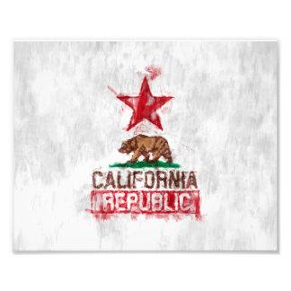 Den Kalifornien republiken sjunker björnen i Fototryck