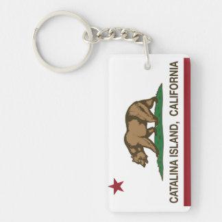 Den Kalifornien republiken sjunker den Catalina ön Rektangulärt Dubbelsidigt Nyckelring I Akryl