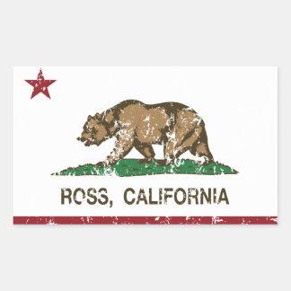 Den Kalifornien republiken sjunker Ross Rektangulärt Klistermärke