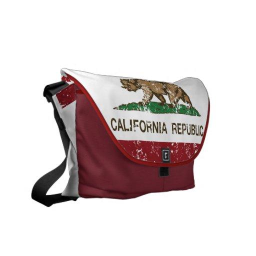 Den Kalifornien republiken uthärdar flagga Kurir Väskor