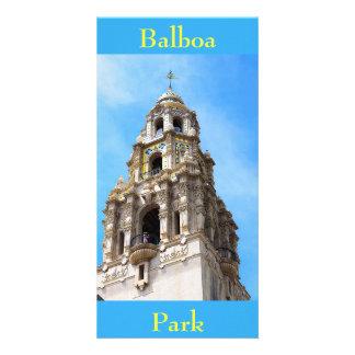 Den Kalifornien tornbalboaen parkerar San Diego Fotokort