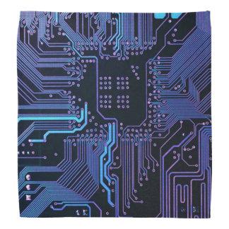 Den kalla blåttdatoren går runt stiger ombord huvud kerchiefs