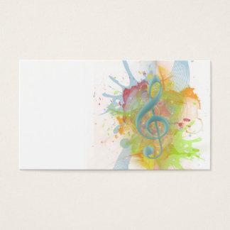Den kalla färgglada akvarellen splatters musik visitkort