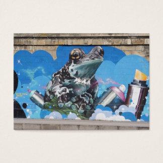 Den kalla grodan mellan sprej på burk grafitti visitkort
