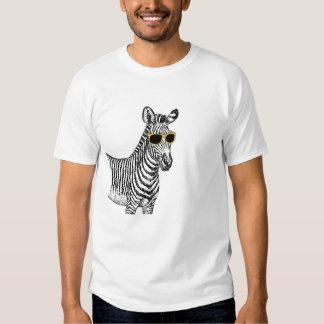 Den kalla gulliga roliga sebran skissar med t-shirt