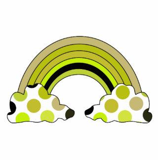 Den kalla polkaen pricker regnbågeprydnaden acrylic cut outs