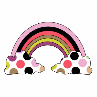 Den kalla polkaen pricker regnbågeprydnaden photo cutout