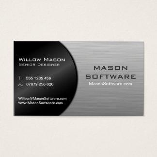 Den kalla svarten och stålsätter vikt teknologi - visitkort