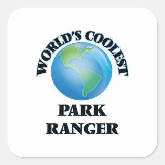 Den kallaste världen parkerar skogsvaktaren fyrkantigt klistermärke